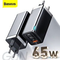 Baseus Charger GaN 65W USB C Charger Quick Charge 4.0 3.0 QC4.0 QC PD3.0 PD USB-C Type C Fast USB Charger For iPhone Pro Max Samsung Macbook