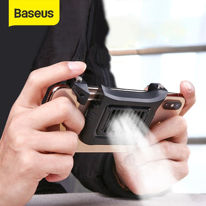 Baseus Gamepad Joystick Gaming Trigger Fire Button Handle For PUBG Andriod IOS Mobile Phone Game Shooter Controller & Cooler Fan