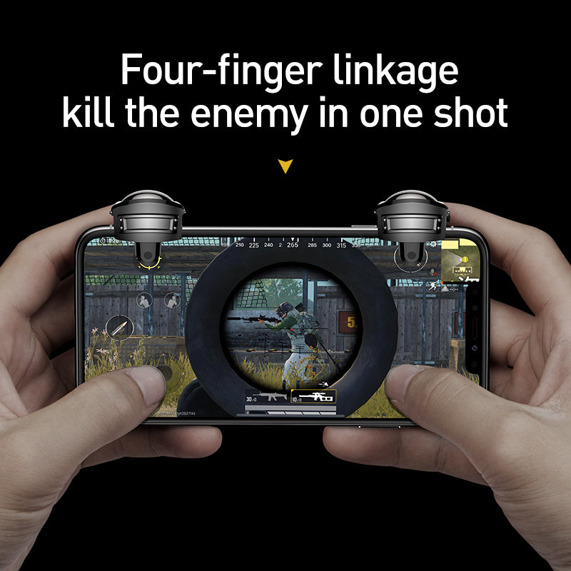 Baseus Gamepad  Joystick for PUBG Gaming Trigger Fire Aim Button L1 R1 Mobile Phone Shooter Controller Joypad For IOS Android