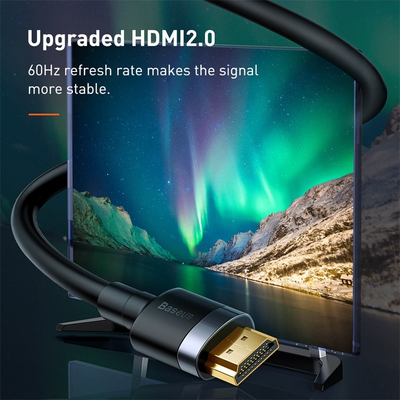 Baseus HDMI Cable 4K HDMI to HDMI Cable HDMI 2.0 Cable for PS4 TV Switch Box Splitter 4K 60Hz Ultra HD HDMI Cable Video Cabo