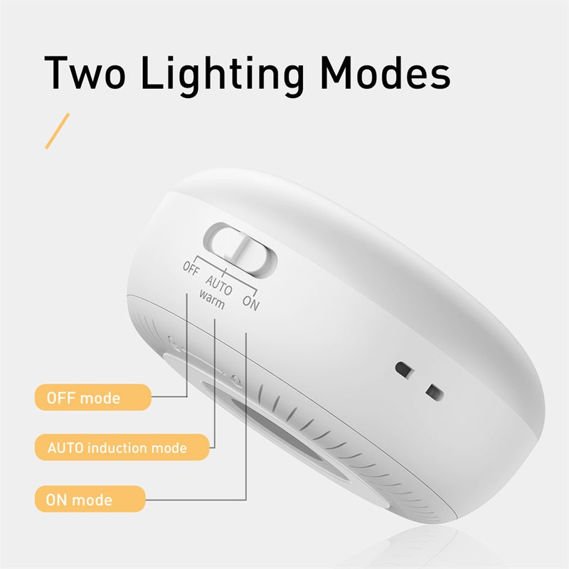 Baseus Intelligent LED Night Light Infrared Motion Sensor Induction LED Wall Lamp Rechargeable Night Lamp For Corridor Wardrobe