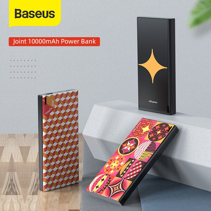 Baseus Joint Aliexpress 10000mAh Power Bank USB Fast Charging Powerbank Slim Portable External Battery