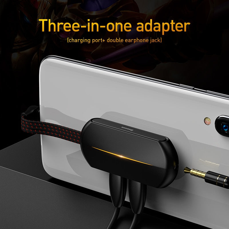 Baseus L49 Type c PD 18W Quick Charging adapter otg usb type c earphone adapter for Smart Phone