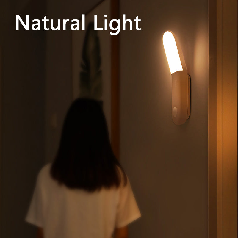 Baseus Led Induction Night Light Human Body Induction Night Light Lamp USB Rechargeable LED Light Motion Sensor Aisle Light