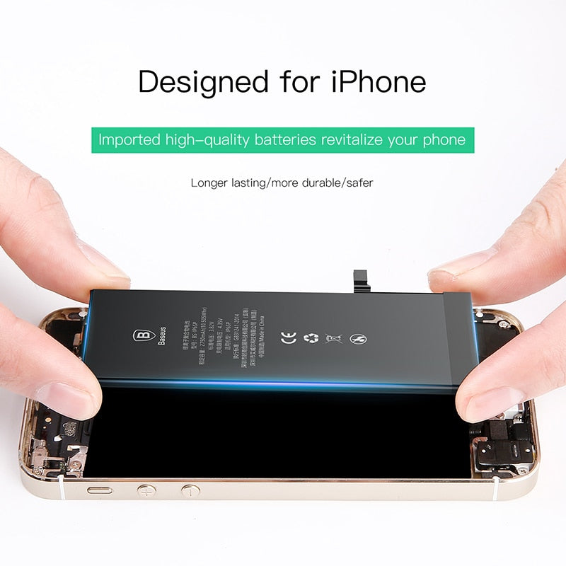 Baseus Lithium Battery for iPhone 7 8 Plus Replacement Phone Batteries 3400mAh Capacity Phone Battery with Free Tools