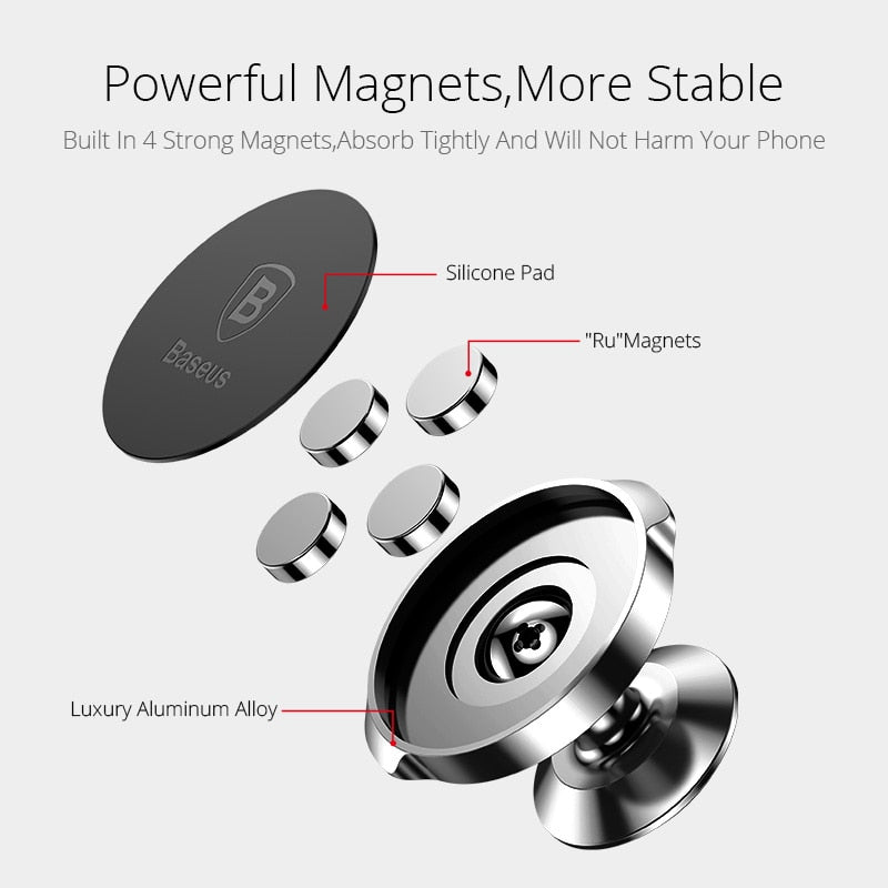 Baseus Magnetic Car Holder For Phone Universal Holder Cell Mobile Phone Holder Stand For Car Air Vent Mount GPS Car Phone Holder