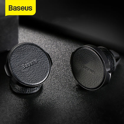 Baseus Magnetic Car Holder for Mobile Phone Air Vent Mount Holder For iPhone Samsung PU Leather Car Phone Holder Stand Bracket