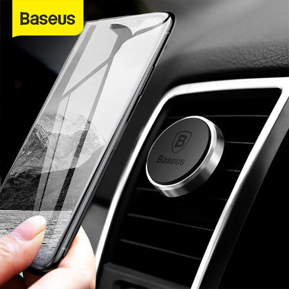 Baseus Magnetic Car Phone Holder For Huawei Xiaomi Magnet Mobile Phone Stand in Car Air Vent Mount GPS Car Holder