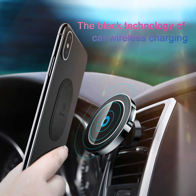 Baseus Magnetic Wireless Car Charger For iPhone 8 Fast Car Charging Charger Universal Mobile Phone Holder for Samsung Car Holder
