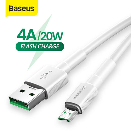 Baseus Micro USB Cable for OPPO 4A VOOC Fast Charging Cable Micro USB Charger Cable for Samsung Note 4 Xiaomi Pixel 2 Data Cord