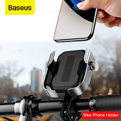 Baseus Motorcycle Phone Holder Support Moto Bicycle Rear View Mirror Handlebar Stand Mount Scooter Motor Bike Phone Holder