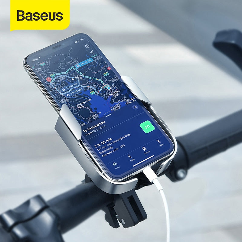 Baseus Motorcycle Phone Holder for Motor Bicycle Rear View Mirror Handlebar Clip Mount Scooter Motor Bike Phone Holder
