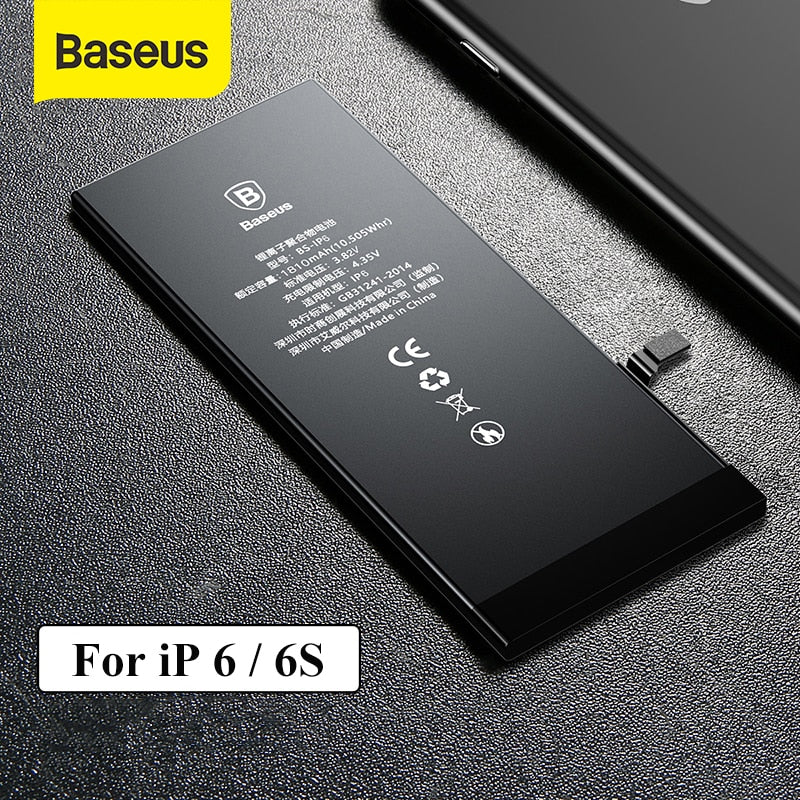 Baseus Phone Battery For iPhone 6 6S 2200mAh High Capacity Replacement Batteries For iPhone 6s with Free Repair Tools