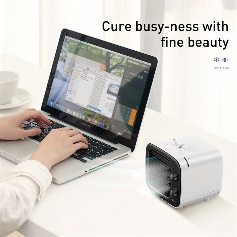 Baseus Portable Air Conditioner 3 Speed USB Fan Mini Air Cooler For Home Office Humidifier Purifier Desk Fan