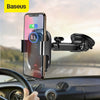 Baseus Qi Wireless Car Charger for iPhone Fast Wireless Charging Car Mount for Samsung Infrared Induction Car Phone Holder Stand