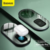 Baseus Qi Wireless Charger For Airpods Pro iPhone 11 Pro X XS XR 15W Dual Wireless Charging Pad For Samsung S10 S9 For Office