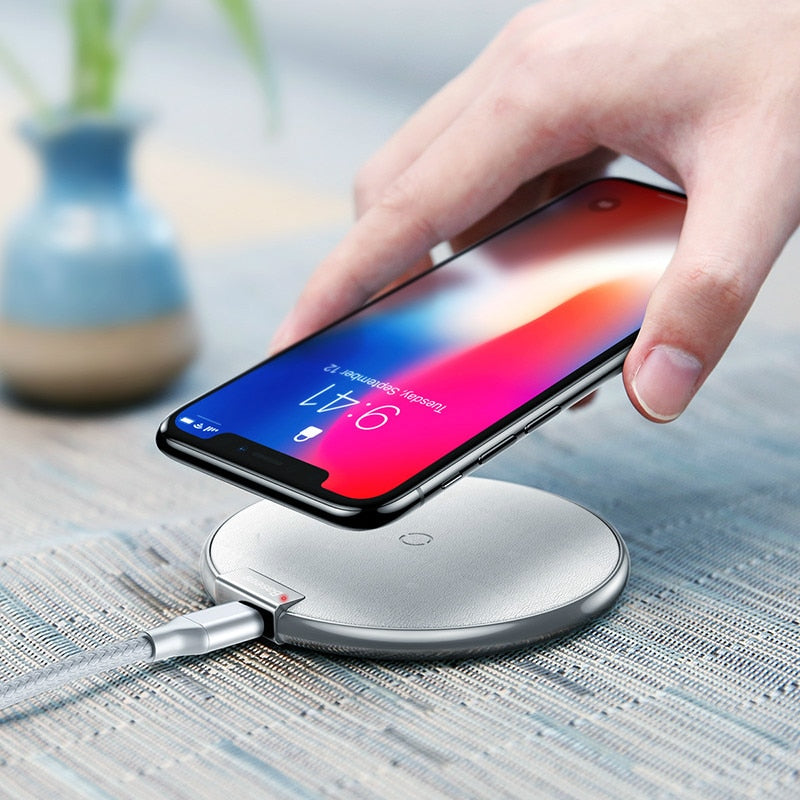 Baseus Qi Wireless Charger Pad For iPhone X XS Max XR 10W Fast Charger Wireless Charging for Samsung S12 S11 S10 S9 Note 12 11 10 9 For Xiaomi - baseus-official-store-shop