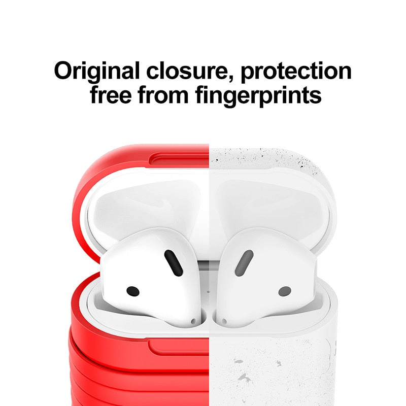 Baseus Silicone Protective Case For Airpods With Anti Lost Magnetic Rope ,Protect Kit Support Charging For Airpods Air Pod Strap