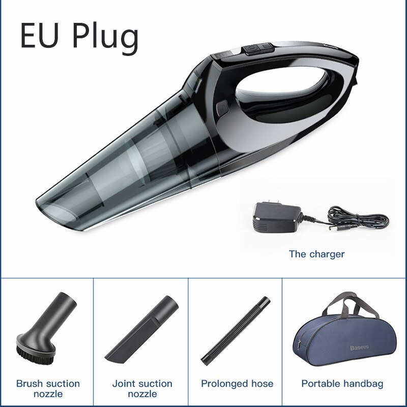 Baseus Strong Handheld Car Vacuum Cleaner Wireless 4KPa Portable Vacuum Cleaner with Auto Accessories for car/home