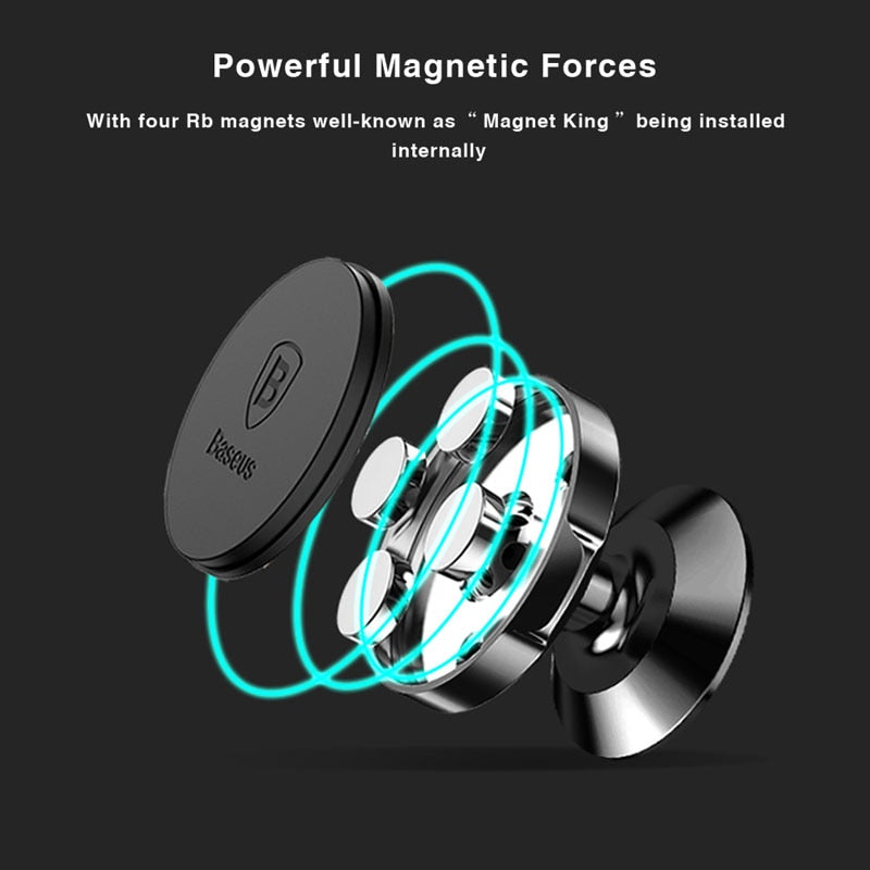 Baseus Strong Magnetic Car Phone holder for iPhone Magnet Car Holder 360 Degree GPS Dashboard Mobile Phone Holder Stand