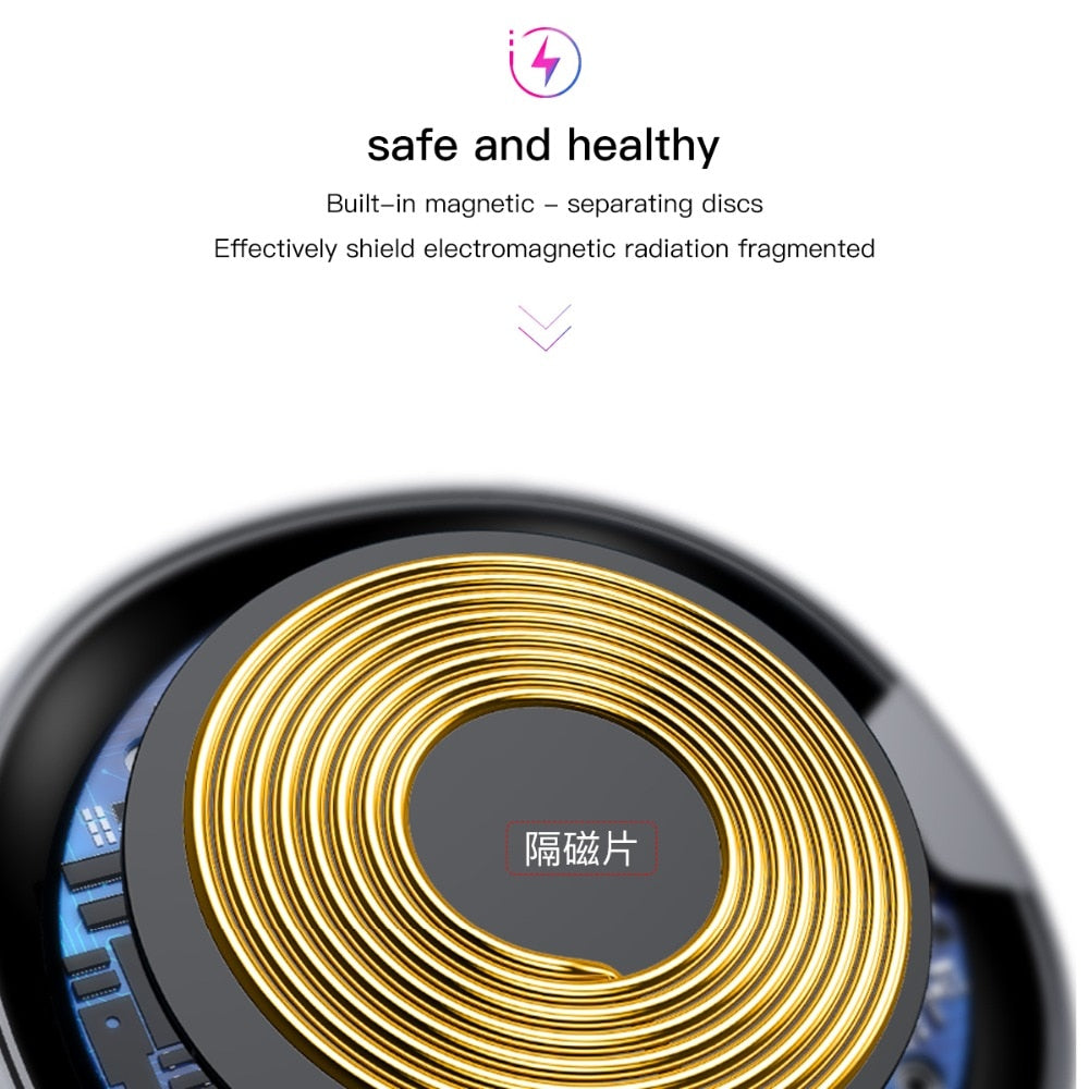Baseus UFO Wireless Charger For iPhone X 8 XR XS For Samsung Note 10 S10 S9 10W Qi Wireless Charging Pad for P30 xiaomi mi 8 9