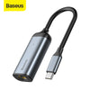 Baseus USB C Ethernet USB Type C to RJ45 HUB Adapter for MacBook Pro Xiaomi Mi Box 3/S Samsung S10 S9 Network Card USB Lan