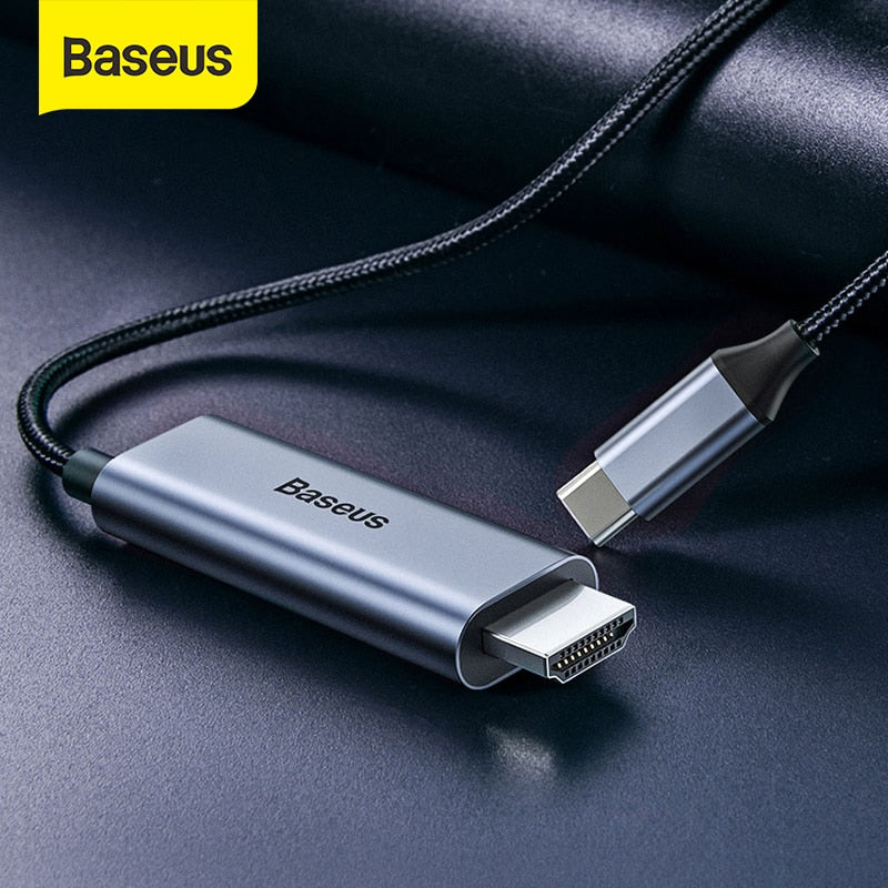 Baseus USB C HDMI Cable Type C to HDMI 4K 60Hz HDMI Adapter Thunderbolt 3 to HDMI Cable HDMI 2.0 for Samsung S20 S10 Huawei P40