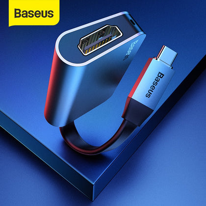 Baseus USB C HDMI Cable Type C to HDMI Splitter 4K 60Hz HDMI Adapter for Samsung S20 Huawei P40 Oneplus 7 HDMI Extender
