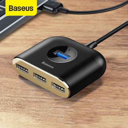 Baseus USB HUB USB 3.0 HUB Type C HUB to USB 3.0 for MacBook Pro Air 2020 USB 2.0 HUB LED USB Splitter for Huawei Notebook HUB