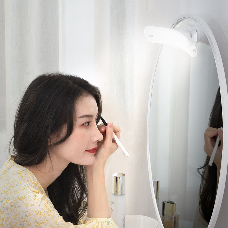 Baseus USB LED Mirror Light Makeup Mirror Vanity Light Adjustable Mirror lamp Portable Makeup lights For Bathroom Dressing Table