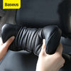 Baseus Universal Car Pillow 3D Memory Foam Warm Car Neck Pillow PU Leather Car Seat Headrest Cushion Head Rest Auto Accessories