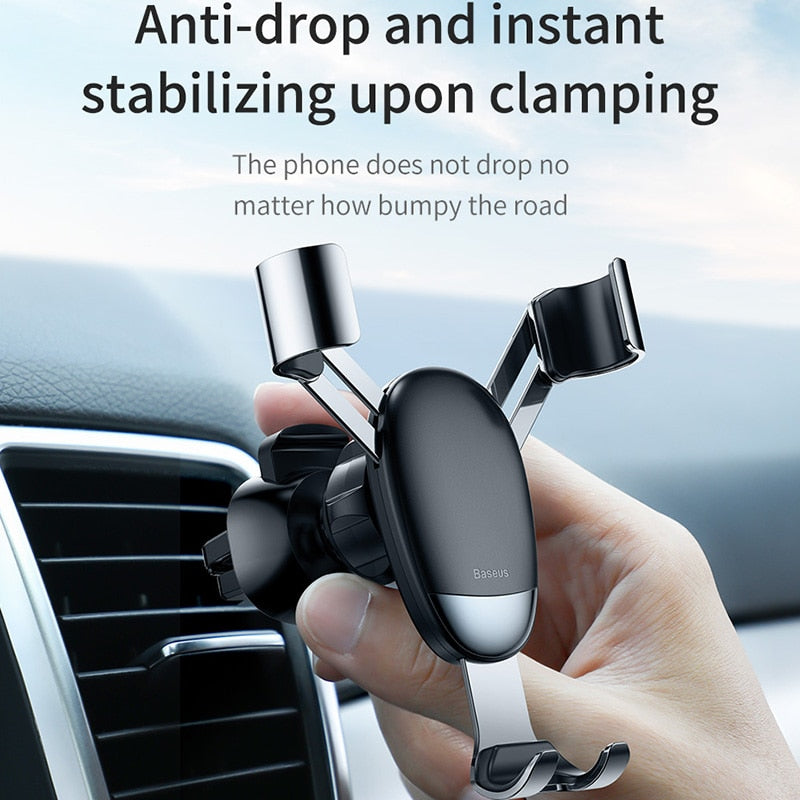 Baseus Universal Gravity Car Holder Air Vent Mount Car Phone Holder for iPhone 11 Pro Max Samsung Mini Mobile Phone Holder Stand - baseus-official-store-shop