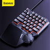Baseus Wired Gaming Keypad for Smartphone Game Keyboard & LED Backlight 35 Keys One-handed Mechanical Keyboard for LOL/PUBG/CF
