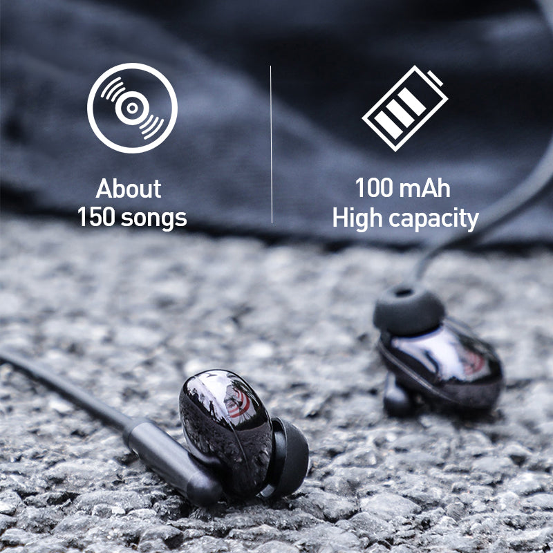 Baseus Wireless Bluetooth Earphone Sports Waterproof Neckband headphone Hi-Fi Stereo headset Support iOS/Android Phones HD Call