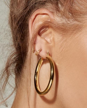 LUV AJ Amalfi Tube Hoops in Gold