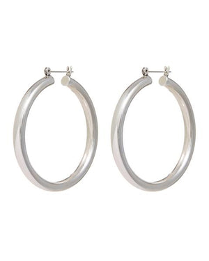 LUV AJ The Amalfi Tube Hoops in Silver