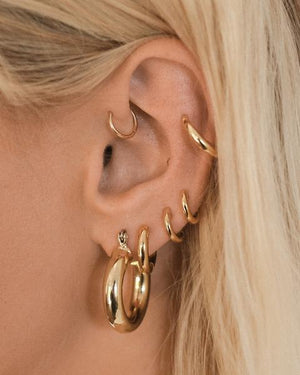 LUV AJ Baby Amalfi Tube Hoops in Gold