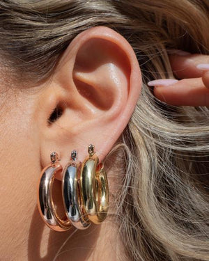 LUV AJ Baby Amalfi Tube Hoops in Silver
