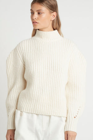 SIR. Matti Tuck Sleeve Sweater - Ivory