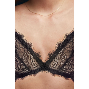 Anine Bing Lace Bra With Trim - Black-ANINE BING-NikandShe