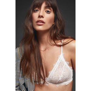 Anine Bing Lace Bra With Trim - White-ANINE BING-NikandShe