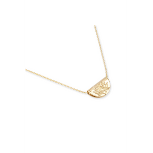 By Charlotte Gold Lotus Short Necklace-BY CHARLOTTE-NikandShe