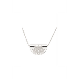 By Charlotte Silver Lotus Short Necklace-BY CHARLOTTE-NikandShe