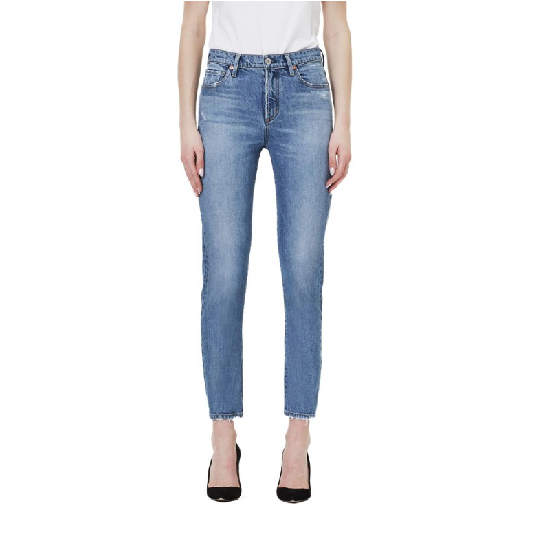 Citizens of Humanity Harlow Ankle Mid Rise Slim Jeans in Chit Chat-CITIZENS OF HUMANITY-NikandShe