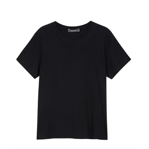 Jac and Jack Verte Organic Cotton Tee in Black-Jac And Jack-NikandShe