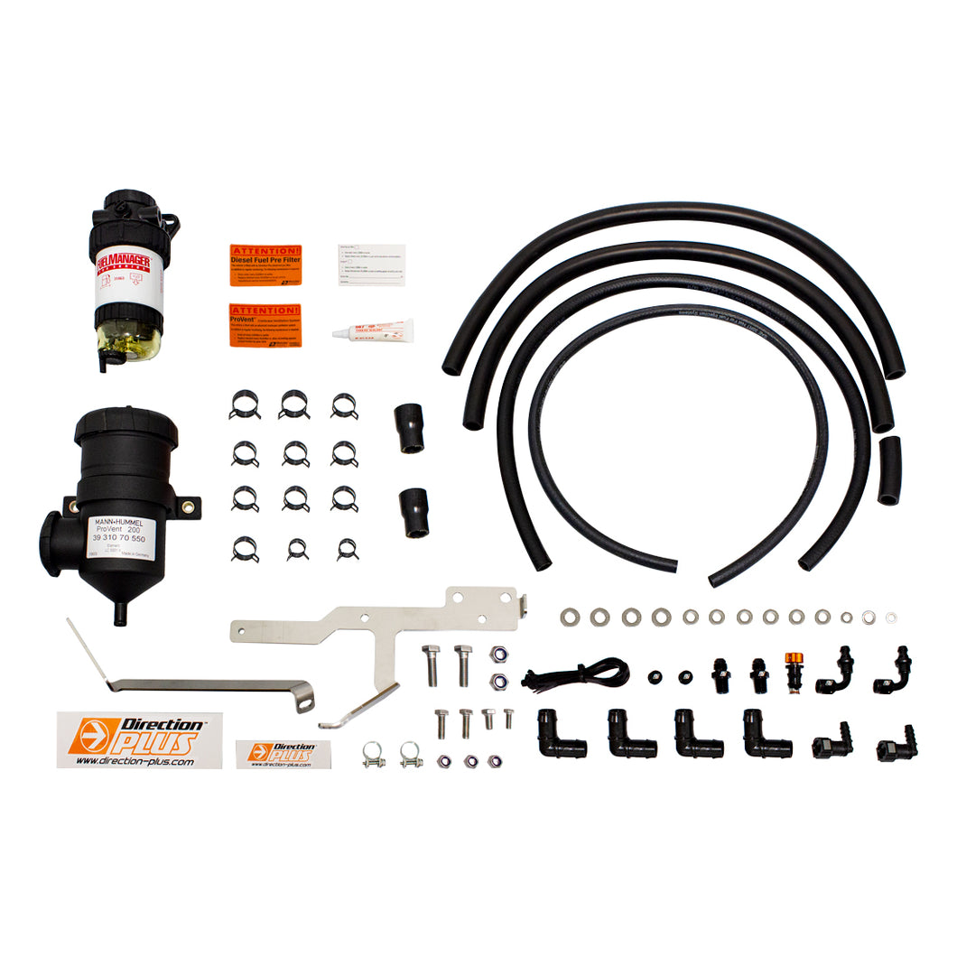 Direction Plus Fuel Manager Pre Filter and Pro Vent Oil Separator Kit Suit Ford Ranger PX 3.2/2.2L 2011 on