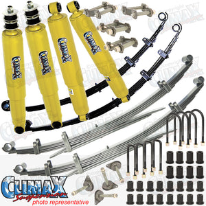 HILUX LN106 SAF 50MM RAISED HEIGHT MEDIUM DUTY CLIMAX SUSPENSION KIT.