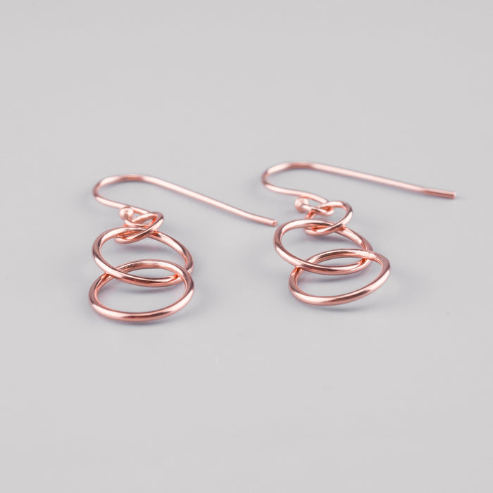 Rose Gold Double Loop Earring