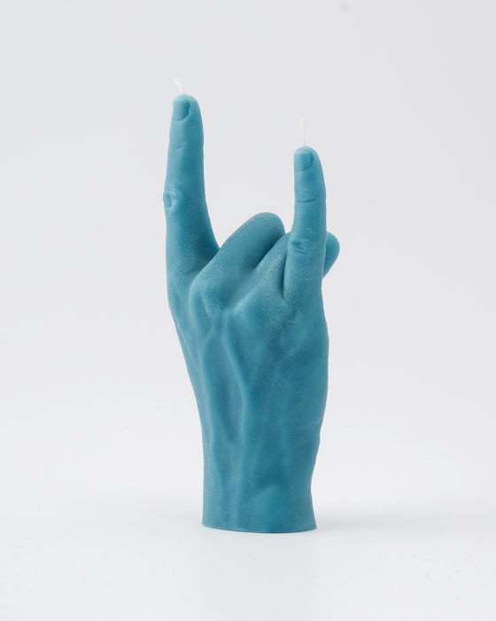 """You Rock"" Candle Hand Gesture Blue"