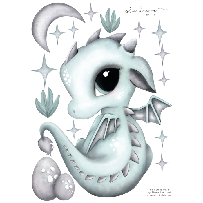 Dex the Dragon Fabric Wall Decals